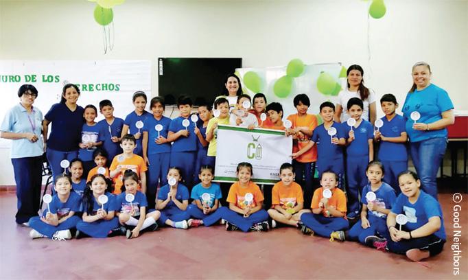아동 권리 옹호 캠페인 참여 아동 이미지