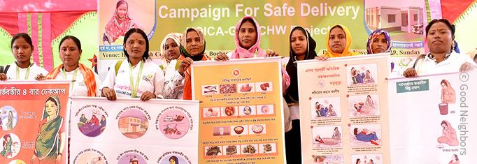 캠페인에 참여하는 여성 이미지