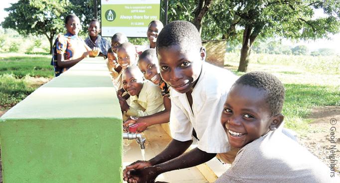 손씻는 아프리카 아동 이미지